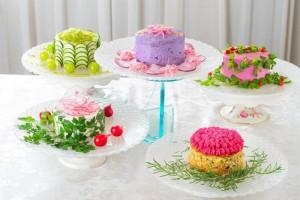 Λαχταριστές σαλάτες σε μορφή τούρτας! (φωτο)