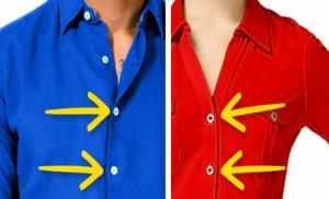 Γνωρίζετε γιατί τα γυναικεία πουκάμισα και τα ανδρικά κουμπώνουν διαφορετικά;!