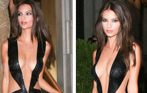 Κακός χαμός στο πάρτι του Harper's Bazaar για τη γυμνόστηθη Εμιλι (video)