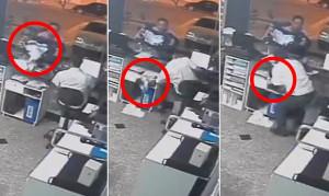 ΣΟΚ: Γραμματέας νοσοκομείου πιάνει νεογέννητο στον αέρα, αφού έπεσε από την αγκαλιά του πατέρα του (vid)