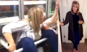 Κόλλησε μέσα στον καταψύκτη του σούπερ μάρκετ και παρακαλούσε τις φίλες της να τη βγάλουν (vid)