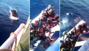 Πρόσφυγες συγκρούονται με ψαρόβαρκα και πνίγονται μπροστά στα μάτια των ψαράδων, οι οποίοι τους βγάζουν βίντεο