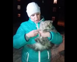 Ζευγάρι Ρώσων βρήκε μια γάτα... παγωμένη μέσα στο χιόνι και την υιοθέτησε (video)