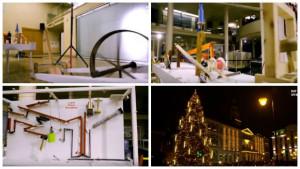 Το Χριστουγεννιάτικο δέντρο της Ρίγα, άναψε με τη μεγαλύτερη μηχανή Rube Goldberg (vid)