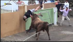 Ταύρος επιτίθεται σε θεατή, ο οποίος τον τραβούσε βίντεο (video)