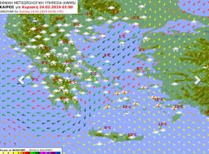 Καιρός: Η ανανεωμένη πρόγνωση της ΕΜΥ, οι χάρτες και τα υψόμετρα των χιονοπτώσεων (Photos)