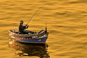 Ψαράς έχει εστιάσει την προσοχή στο καλάμι του! Αυτό που του πετάχτηκε του προκάλεσε σοκ (video)