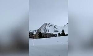 Προσέξτε καλά αυτό το χιονισμένο βουνό! Σας φέρνει κάτι στο νου... Θα εκπλαγείτε! (video)