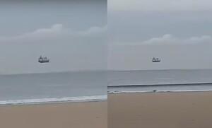 Απίστευτες εικόνες! Πλοίο «πετάει» στον ωκεανό - Το τρομερό φαινόμενο (video)