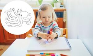 Χρωμοσελίδες για παιδιά: Μαθαίνουμε τα ζώα της θάλασσας ζωγραφίζοντας