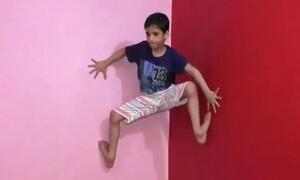 Το 7χρονο αγόρι που ανεβαίνει τοίχους σαν τον Spider-Man (video)