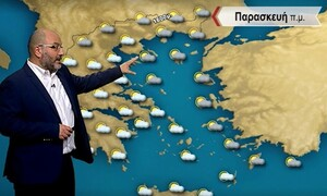 Καιρός - Αρναούτογλου: Λίγες οι βροχές και τα πρώτα χιόνια την Παρασκευή!