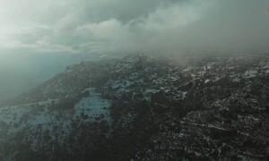 Αράχωβα: Απίστευτες εικόνες από τη... Μύκονο του χειμώνα (video)