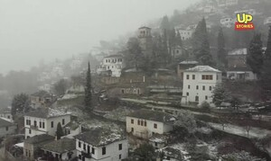 Πήλιο: Ο χιονιάς δημιούργησε ένα παραμυθένιο σκηνικό (video)