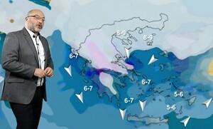 Καιρός: Πυκνό χιόνι και αλυσίδες ακόμα και μέσα σε πόλεις. Προειδοποίηση Αρναούτογλου