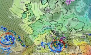 Καιρός: Η τάση έως τις 20 Μαρτίου και το σενάριο εμφάνισης Μεσογειακού Κυκλώνα (Vid)