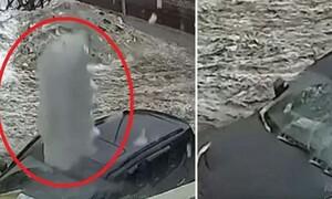 Ο θάνατος καραδοκεί από ψηλά - Το ανατριχιαστικό βίντεο που έγινε viral