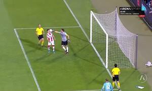 Απίστευτες εικόνες στον τελικό Κυπέλλου Σερβίας: Κατέβασαν το σορτσάκι του τερματοφύλακα (video)