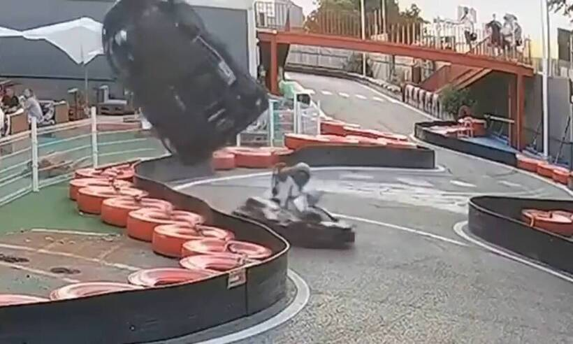 Τρομακτικό ατύχημα σε αγώνα καρτ! (video)