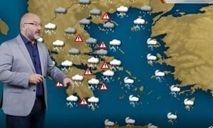 Προειδοποίηση Αρναούτογλου: Γενικευμένη προσοχή, εμμονική τάση οι καταιγίδες (vid)
